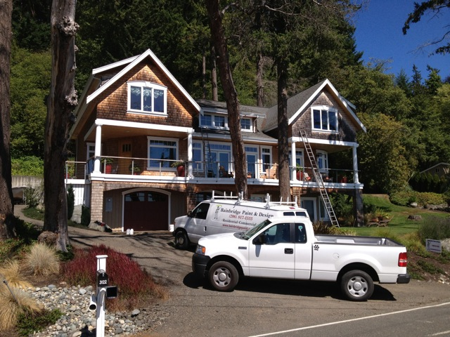 Shingle cleaning - Crystal Springs Bainbridge Island